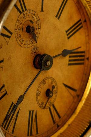 old broken clock photo