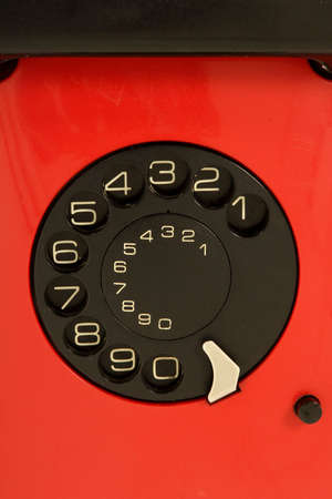 isolated red telephone photo