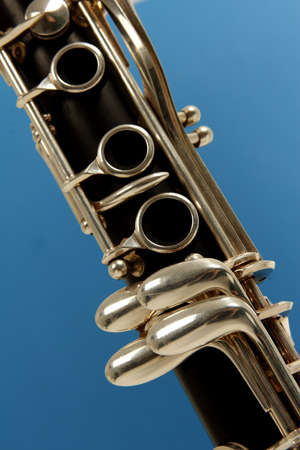 woodwind: close up detail of a woodwind clarinet