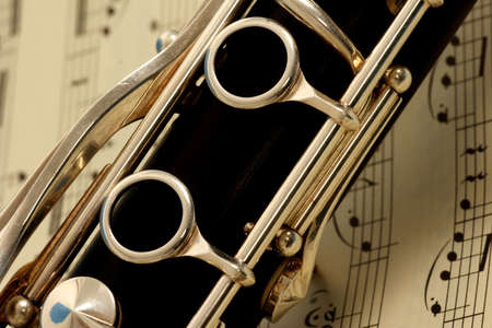 melodious: close up detail of a woodwind clarinet