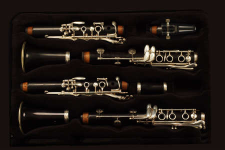 timbre: close up detail of a woodwind clarinet