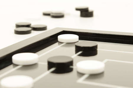 draughs or checkers black and white board game Stock Photo - 743707