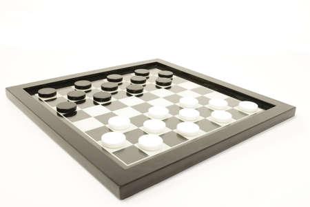 brettspiel: Draughs Dame oder Schwarz-Wei�-Brettspiel
