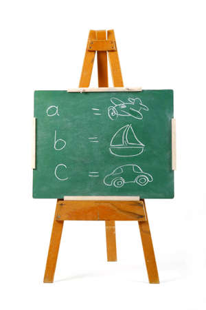 learning the alphabet on a chalk board Stock Photo - 746948