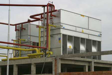 compresor: compresor de refrigeraci�n industrial de f�brica