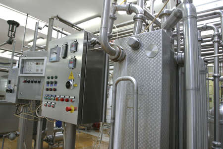 industrial control system in modern dairy factory Stock Photo - 748536