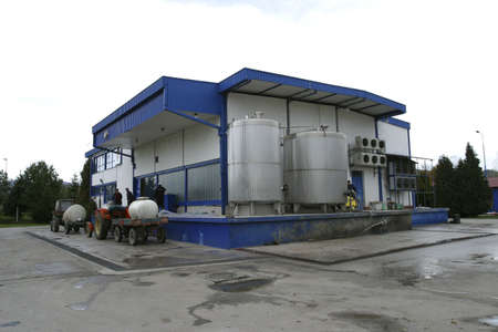 modern small scale dairy for milk and cheese production