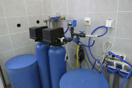 filtration: water filtration system in laboratory of dairy production factory