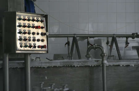switchgear: industrial control system in modern dairy factory