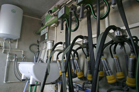 new suction Milking Machines installed on farm
