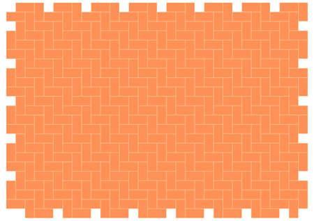 patio floor herringbone brickwork pattern  editable vector Vector