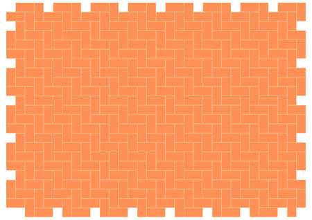 patio:  patio floor herringbone brickwork pattern  editable vector