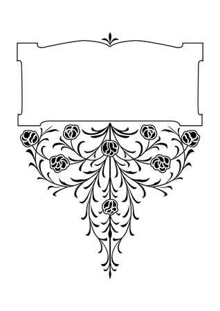 victorian floral decorative design elements Stock Vector - 1934497