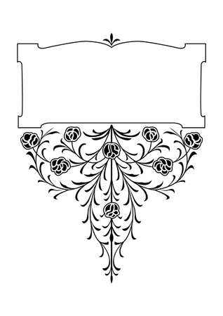 white victorian old retro vintage: victorian floral decorative design elements
