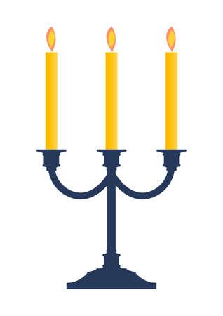 Kerzenständer mit brennenden Kerzen illustration