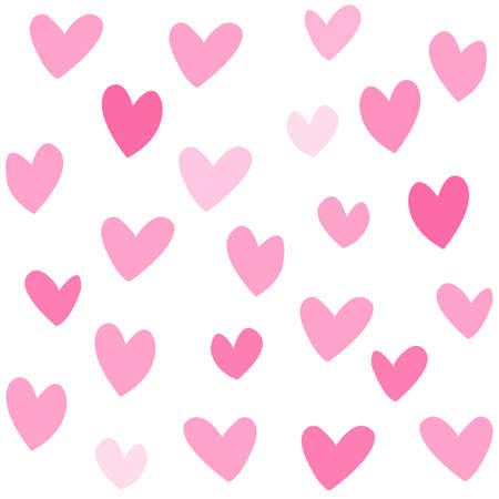 pink lovehearts seamless pattern illustration