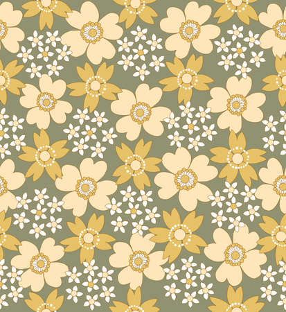 floral seamless tiled pattern illustration Vector