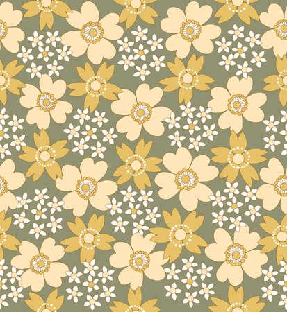floral seamless tiled pattern illustration