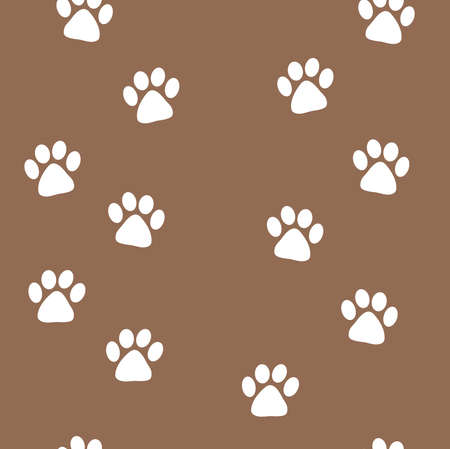 animal tracks: animal tracks seamless pattern illustration Illustration