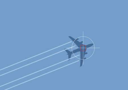 air travel terror threat illustration