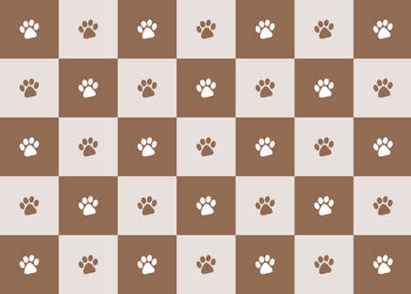 chocolate paw print pattern illustration