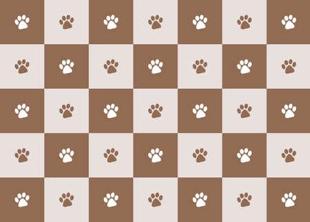 chocolate paw print pattern illustration