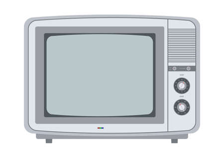 retro tv from the 1970s  Vector