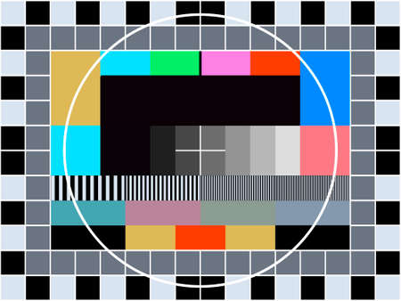 contrast resolution: TV transmission test card for adjusting and tuning a television