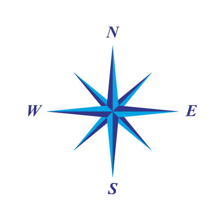 magnetic north: simple elegant compass rose illustration Illustration