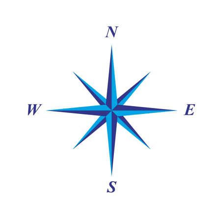 simple elegant compass rose illustration Illustration