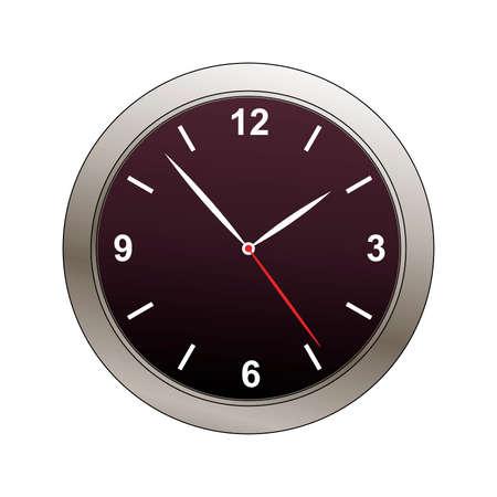 bevel: clock face with metalic bevel illustration