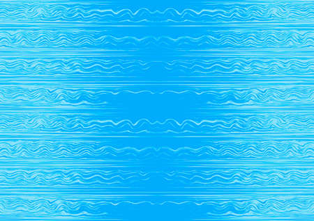 colorful horizonal waves and lines illustration Vector