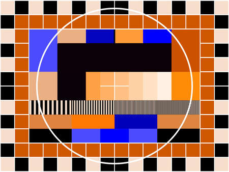 contrast resolution: a TV transmission test card