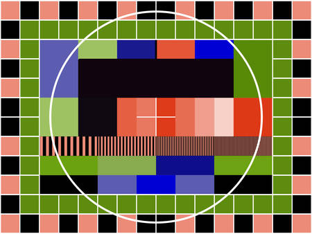 a TV transmission test card Vector