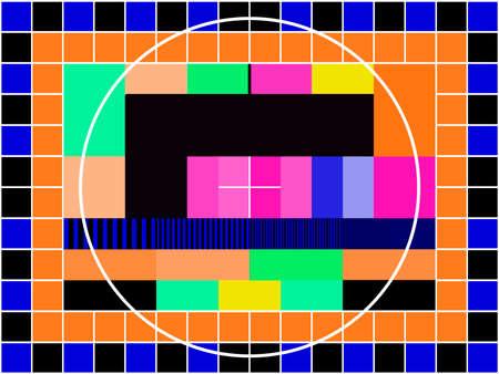 a TV transmission test card Vector