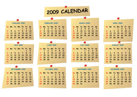 schedulers: 2009 editable calendar Illustration