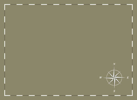 a blank chart with compass rose Vector