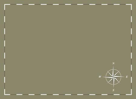 een lege grafiek met kompas roos