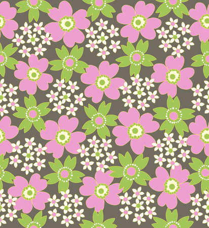 a floral seamless tiled pattern  Vector