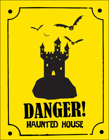 deathly: a scary Halloween sign