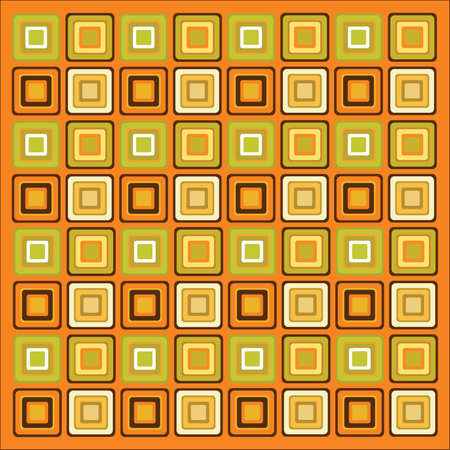 70s Retro Pattern Background Wallpaper Stock Vector
