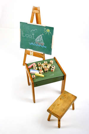 learning to spell chalk board Stock Photo - 4031292