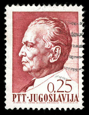 dictator: vintage stamp depicting the Yugoslav Communist Dictator Josip Tito who came to power after WW2