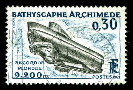 vintage french stamp Standard-Bild
