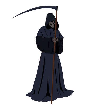 illustration of the grim reaper harbinger of doom Vector