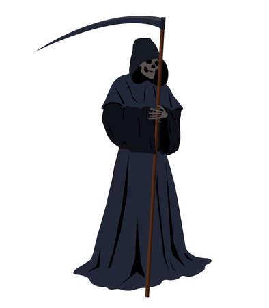harbinger:  illustration of the grim reaper harbinger of doom Illustration