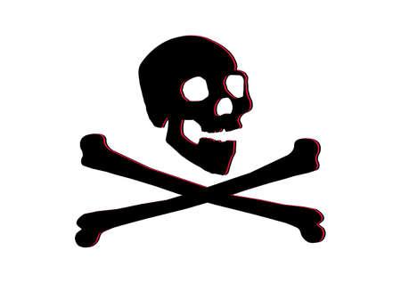 jolly roger skull and crossbones Stock Vector - 8414475