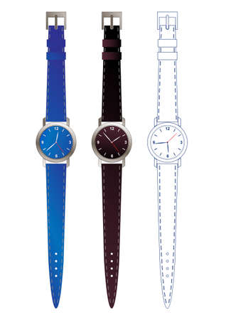 editable watch design  Vector