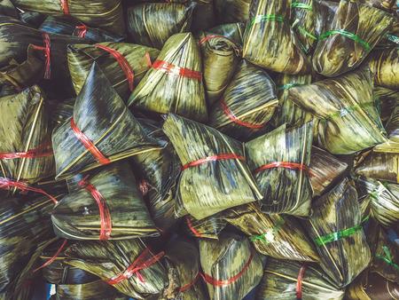Chinese traditional package food dumplings food zongzi 写真素材