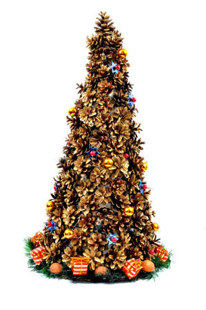 Christmas tree with cones